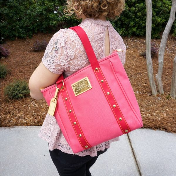 Louis Vuitton Antiqua Pink Tote Lumina Gem Wilmington, NC