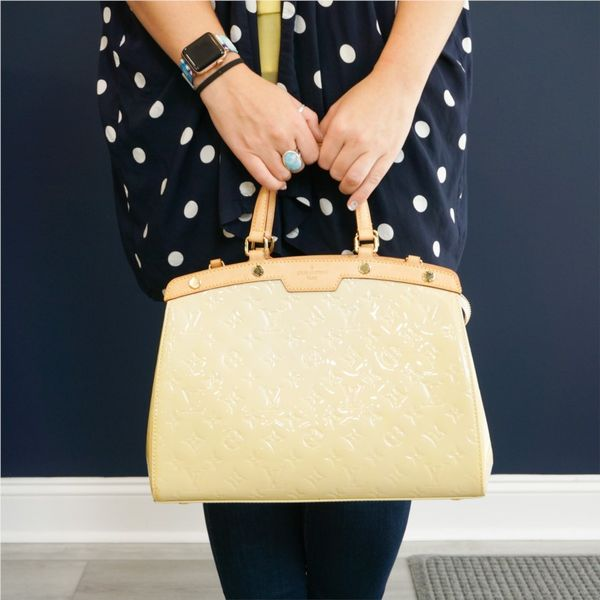 Louis Vuitton Brea MM Vernis Handbag - Yellow Lumina Gem Wilmington, NC