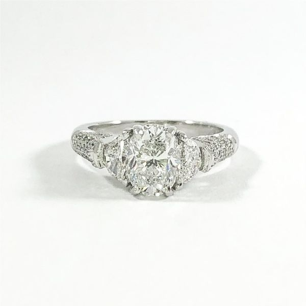 1.52ct Oval Diamond Engagement Ring - D Color and SI2 Clarity Lumina Gem Wilmington, NC