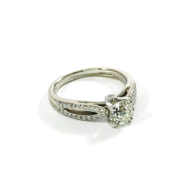 Old European Cut Diamond Engagement Ring -  I-J Color SI1 Clarity Image 2  ,