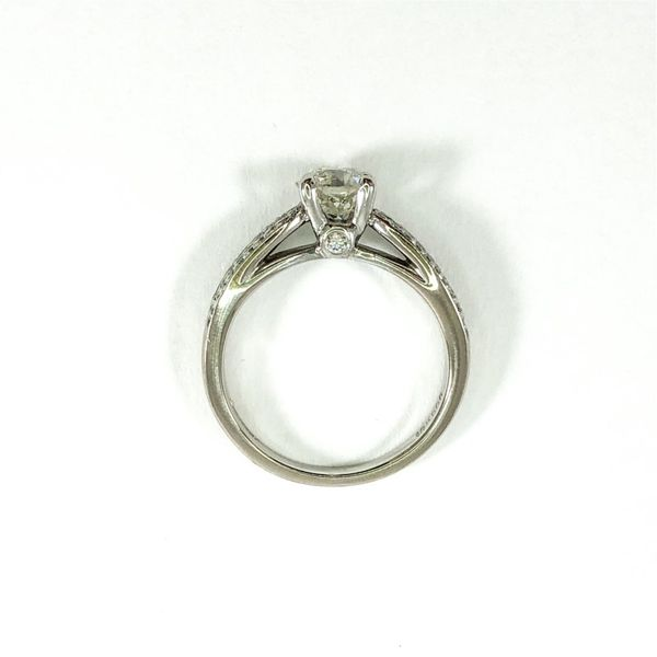 Old European Cut Diamond Engagement Ring -  I-J Color SI1 Clarity Image 3  ,