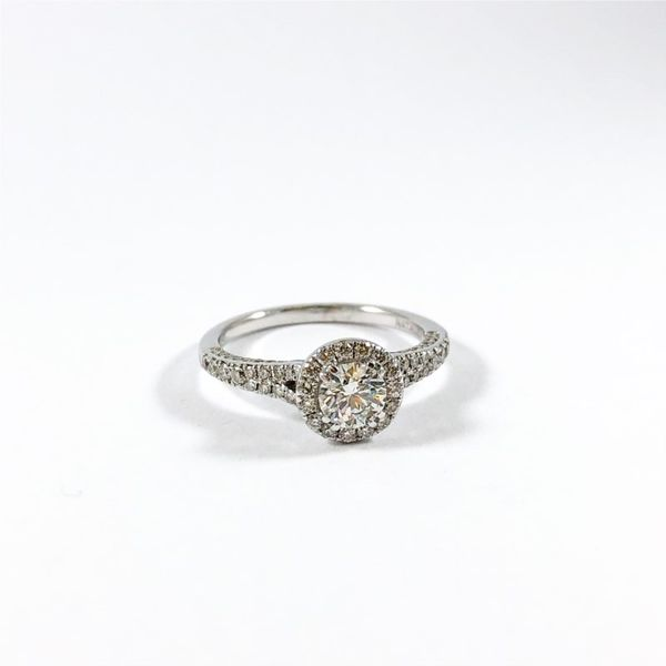 Engagement Ring - .50ct Forevermark Diamond in a .57ctw Diamond and 18kWhite Gold Setting - F Color VS1 Clarity Image 2 Lumina Gem Wilmington, NC