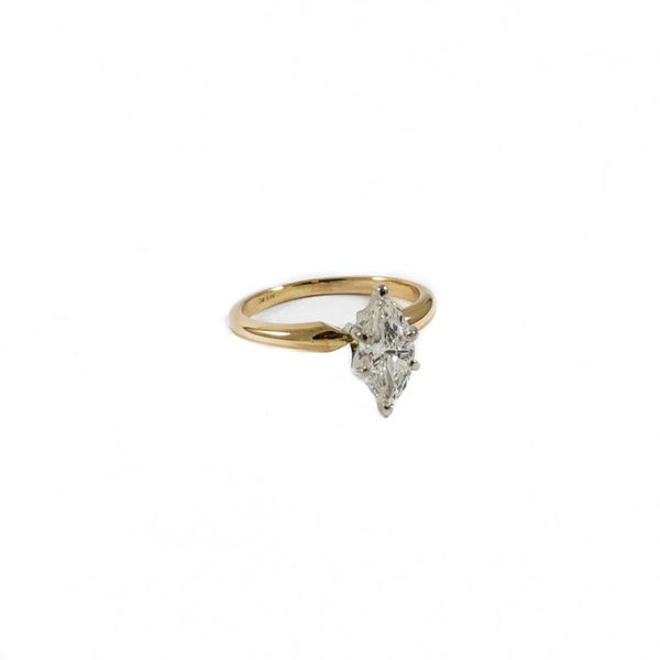 .75ct Marquise Diamond Engagement Ring - G-H Color SI2 Clarity Image 2 Lumina Gem Wilmington, NC