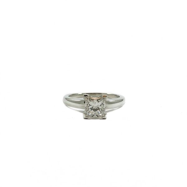 1ct Princess Cut Diamond Engagement Ring - Platinum - G Color SI Clarity Lumina Gem Wilmington, NC