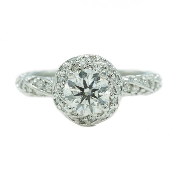 1ct Round GIA Certified Diamond Engagement Ring - .54ctw Diamond and Platinum Setting - I Color SI2 Clarity Lumina Gem Wilmington, NC