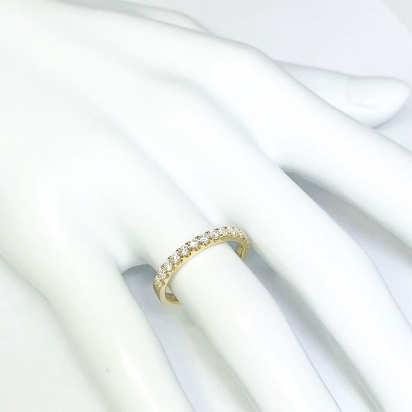 Lumina Gem Signature Collection Yellow Gold Diamond Wedding Band Image 4 Lumina Gem Wilmington, NC