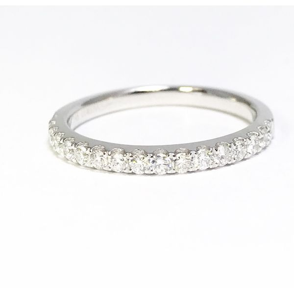 Lumina Gem Signature Collection White Gold Diamond Wedding Band Image 2 Lumina Gem Wilmington, NC