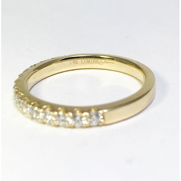 Lumina Gem Signature Collection Yellow Gold Diamond Wedding Band Image 3 Lumina Gem Wilmington, NC