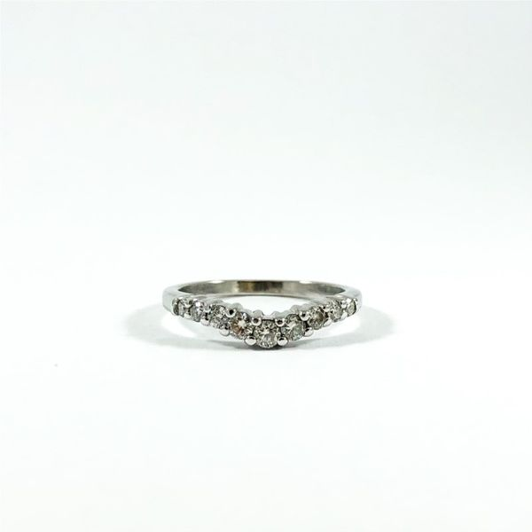 .55ctw Curved Diamond Wedding Band - White Gold Lumina Gem Wilmington, NC