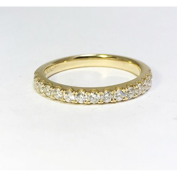 Lumina Gem Signature Collection Yellow Gold Diamond Wedding Band Image 2 Lumina Gem Wilmington, NC