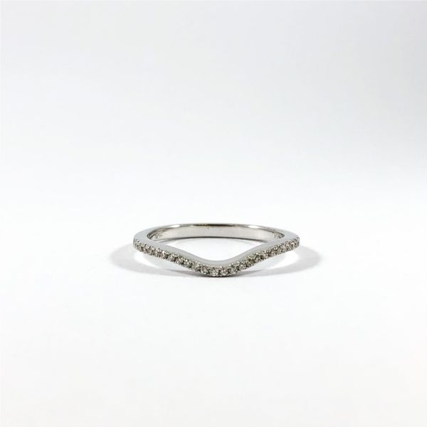 Diamond and White Gold Curved Wedding Band Lumina Gem Wilmington, NC
