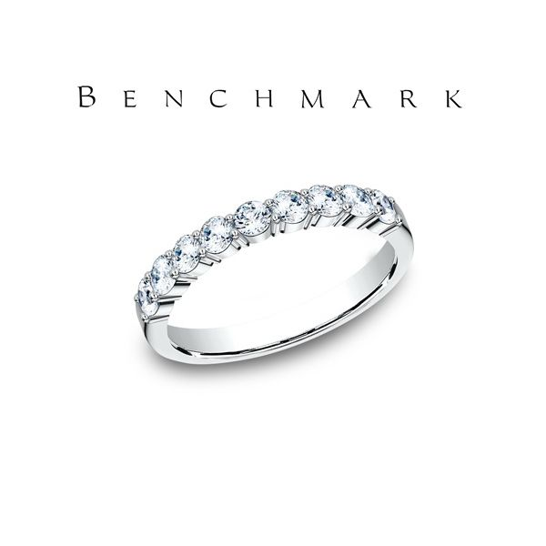 Benchmark .72ctw Diamond and White Gold Wedding Band Lumina Gem Wilmington, NC