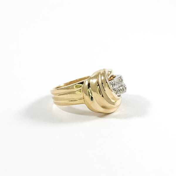 Diamond and Yellow Gold Fashion Ring Image 2 Lumina Gem Wilmington, NC