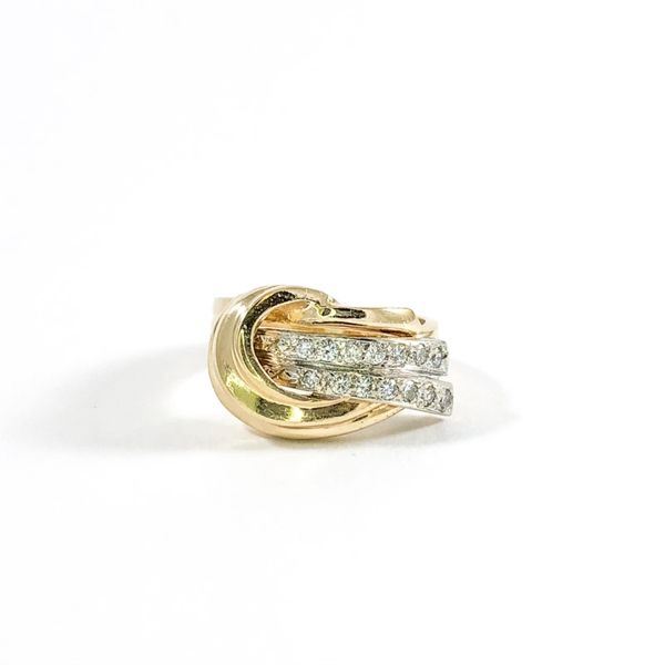 Diamond and Yellow Gold Fashion Ring Lumina Gem Wilmington, NC