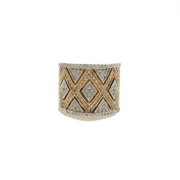 1ctw Diamond Two Tone Wide Band Lumina Gem Wilmington, NC