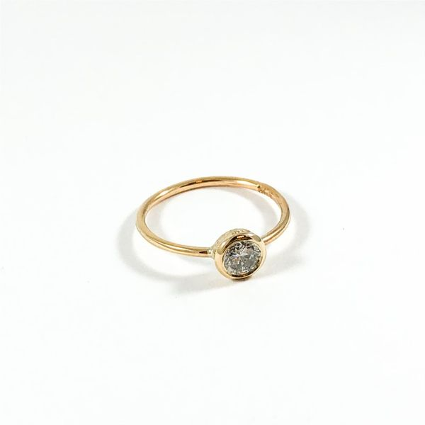.40ct Round Bezel Set Diamond Ring - Yellow Gold - Handmade at Lumina Gem Image 2 Lumina Gem Wilmington, NC