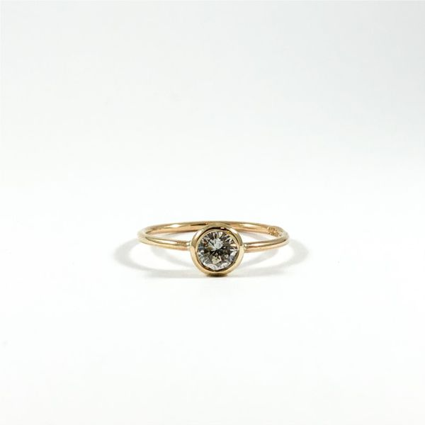 .40ct Round Bezel Set Diamond Ring - Yellow Gold - Handmade at Lumina Gem Lumina Gem Wilmington, NC