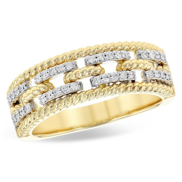 Allison-Kaufman Diamond and Two Tone Gold Fashion Band Lumina Gem Wilmington, NC