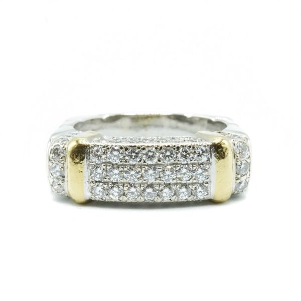 1.25ctw Diamond Ring in White Gold - 22k Yellow Gold Accents - F-G Color VS2 Clarity Lumina Gem Wilmington, NC