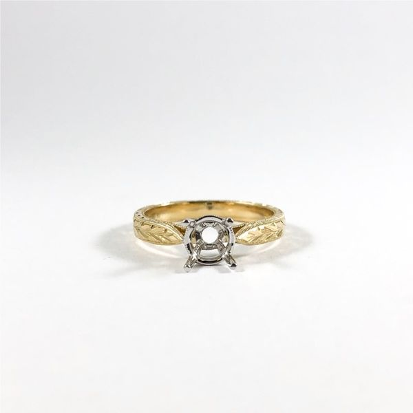Roman and Jules Two Tone Textured Semi-Mount Lumina Gem Wilmington, NC