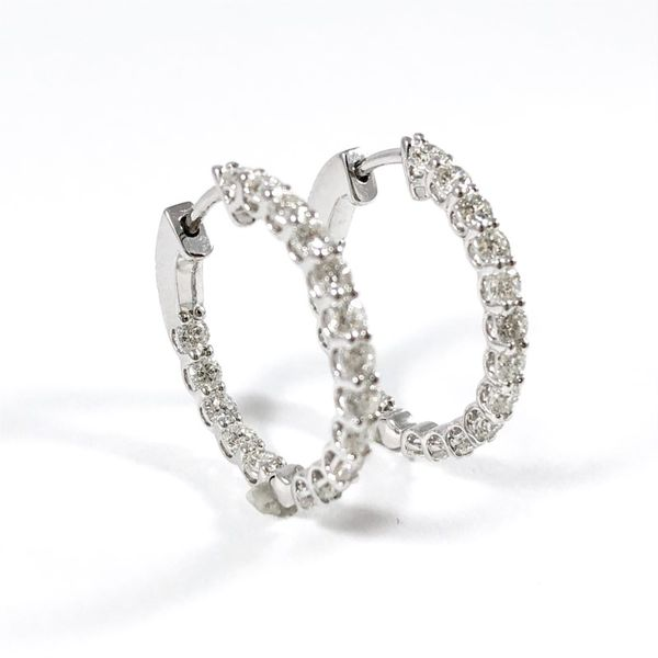 Facet Barcelona 7.70ctw Inside Out Diamond Hoop Earrings Image 2 Lumina Gem Wilmington, NC