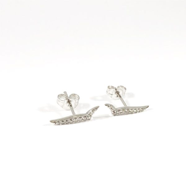 Ostbye Diamond and White Gold Earrings Image 2 Lumina Gem Wilmington, NC