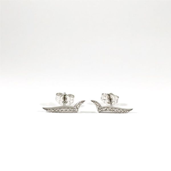 Ostbye Diamond and White Gold Earrings Lumina Gem Wilmington, NC