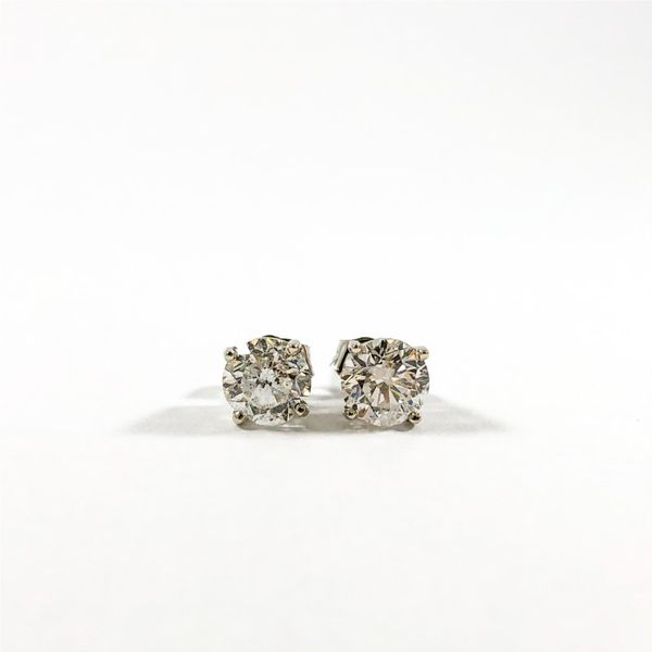 1.96ctw Diamond Stud Earrings - G Color I1 Clarity Lumina Gem Wilmington, NC