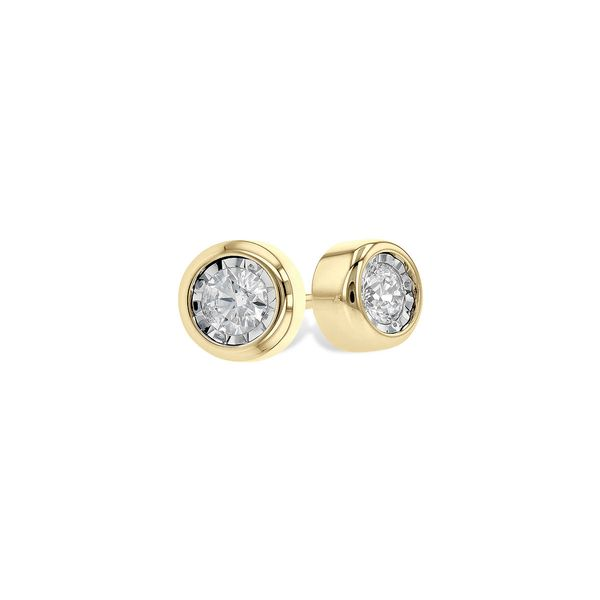 Allison Kaufman .25ctw Diamond Studs - Yellow Gold Lumina Gem Wilmington, NC
