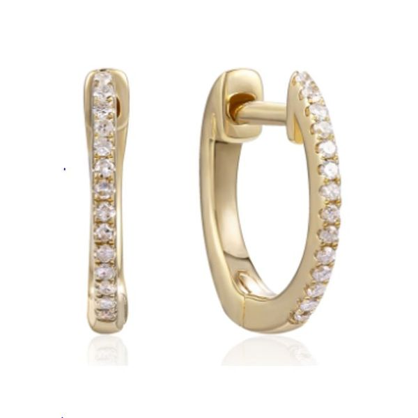 Luvente .08ctw Diamond Hoops - Yellow Gold Lumina Gem Wilmington, NC