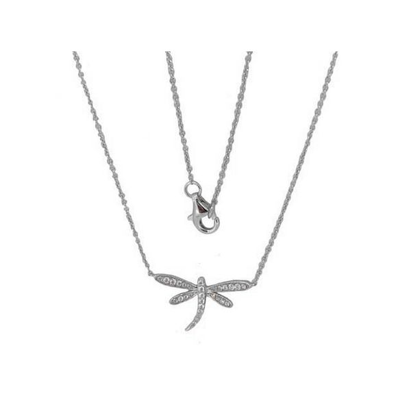 Luvente Diamond Dragonfly Necklace - 18