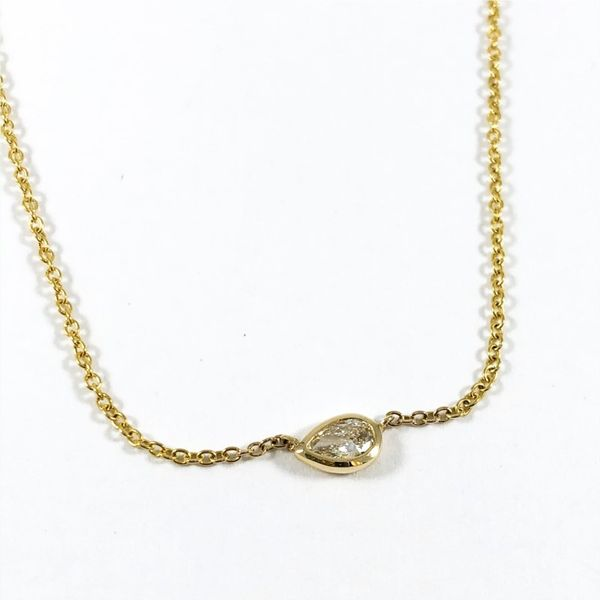 .16ctw Pear Shaped Diamond Necklace - 16-18