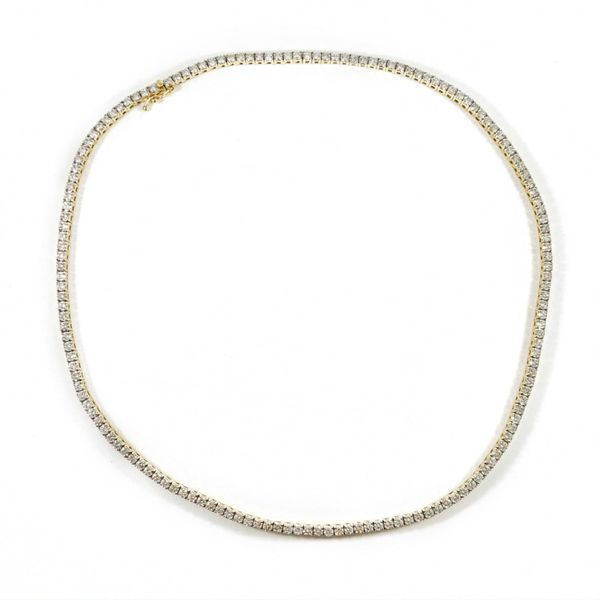 9ctw Diamond Necklace - Yellow Gold - H Color SI1-I Clarity - 16