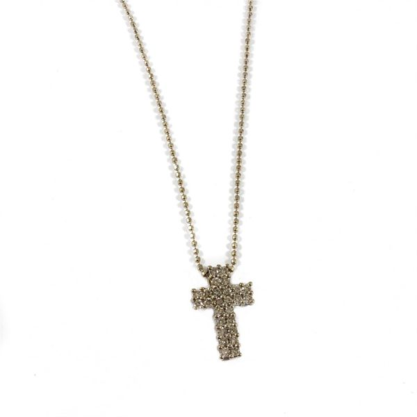 .33ctw Diamond Cross Necklace - H-I Color I1 Clarity - White Gold Lumina Gem Wilmington, NC