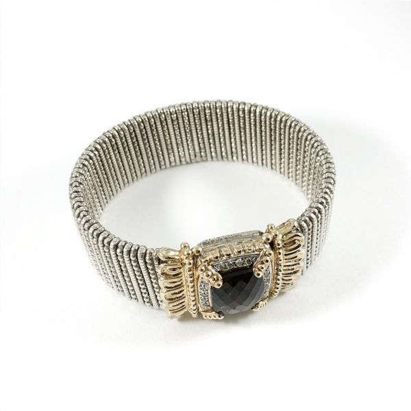 Alwand Vahan 22mm Smokey Quartz and Diamond Cuff Image 2 Lumina Gem Wilmington, NC