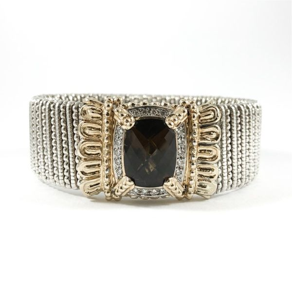 Alwand Vahan 22mm Smokey Quartz and Diamond Cuff Lumina Gem Wilmington, NC