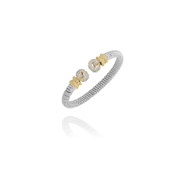 Alwand Vahan .17ctw 6mm Two Tone Cuff Lumina Gem Wilmington, NC