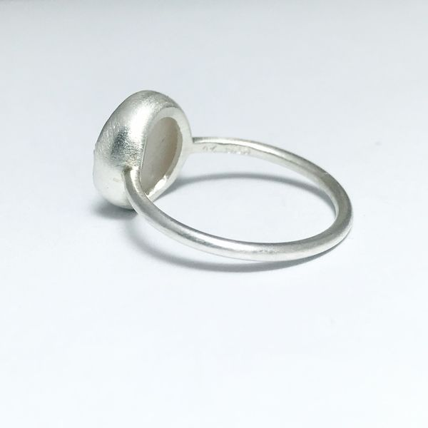Nina Nguyen Chillaxin White Druzy Quartz Ring Image 2 Lumina Gem Wilmington, NC