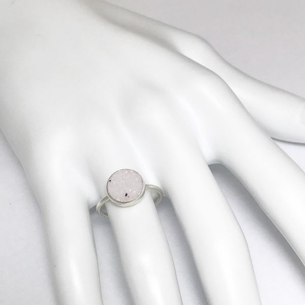 Nina Nguyen Chillaxin White Druzy Quartz Ring Image 3 Lumina Gem Wilmington, NC