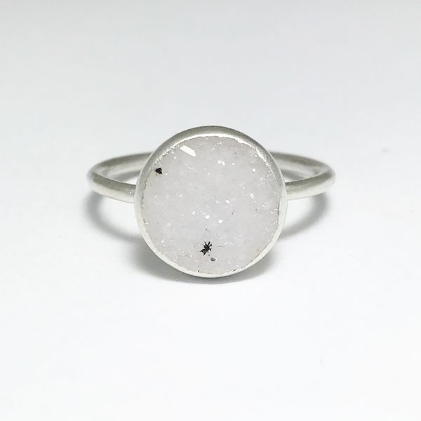 Nina Nguyen Chillaxin White Druzy Quartz Ring Lumina Gem Wilmington, NC