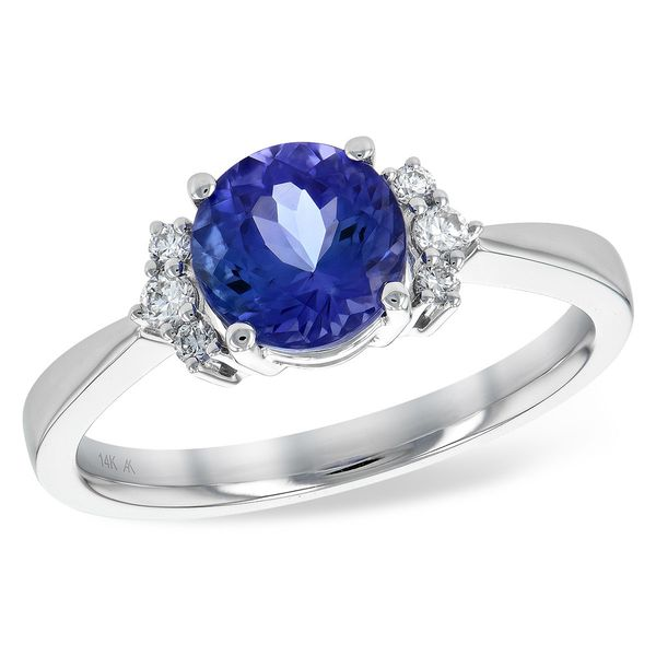 Allison Kaufman 1.53ctw Tanzanite and Diamond Ring - White Gold Lumina Gem Wilmington, NC