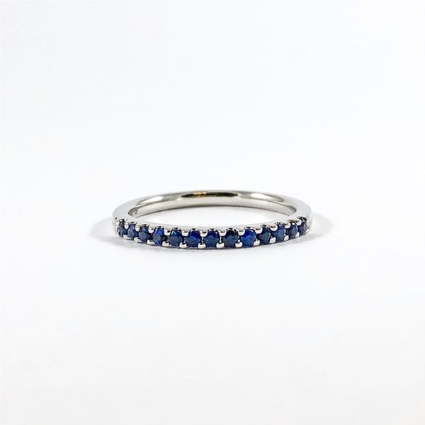 Sapphire and White Gold Band Lumina Gem Wilmington, NC