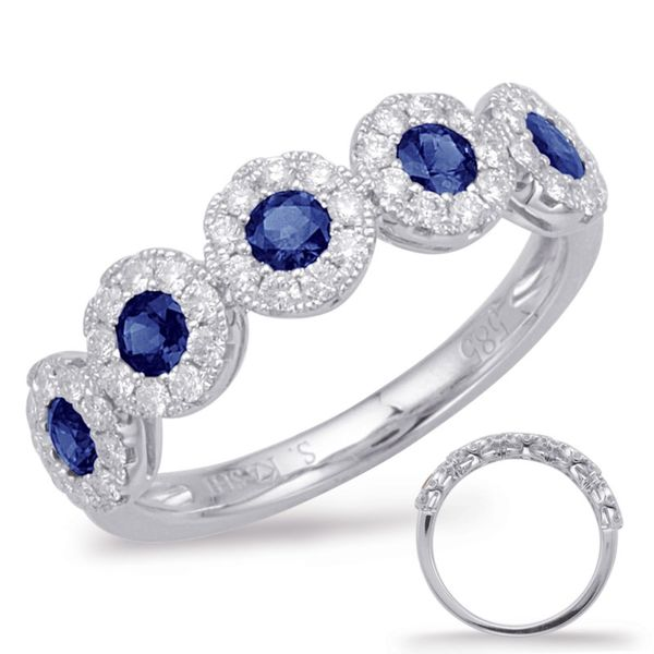 S. Kashi and Sons Sapphire and Diamond Band - White Gold Lumina Gem Wilmington, NC