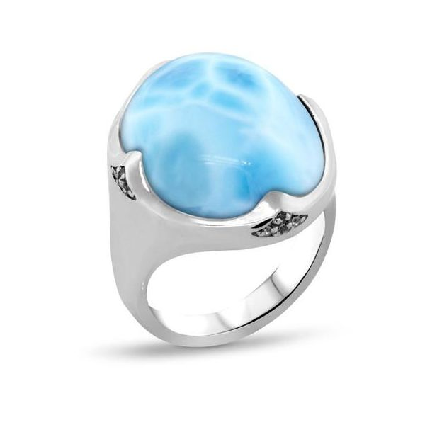Marahlago Larimar Cocktail Ring Lumina Gem Wilmington, NC