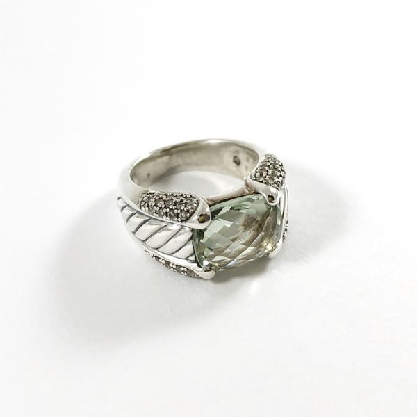 David Yurman Prasiolite and Diamond Ring Image 2 Lumina Gem Wilmington, NC