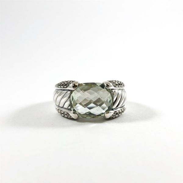 David Yurman Prasiolite and Diamond Ring Lumina Gem Wilmington, NC