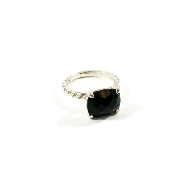 David Yurman Onyx Cable Classics Ring Image 2 Lumina Gem Wilmington, NC