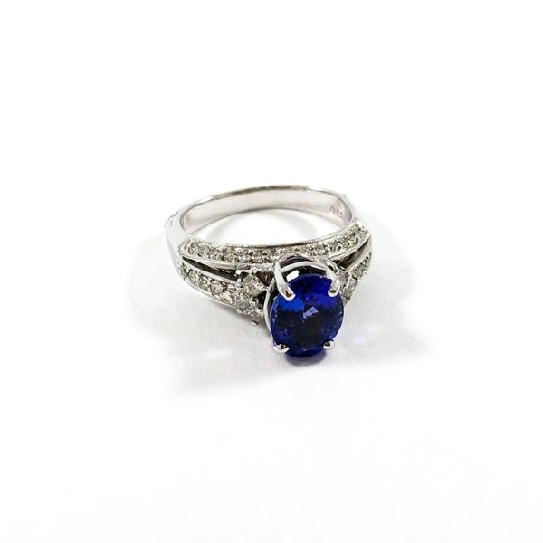 2ct Tanzanite and Diamond Ring Image 2 Lumina Gem Wilmington, NC