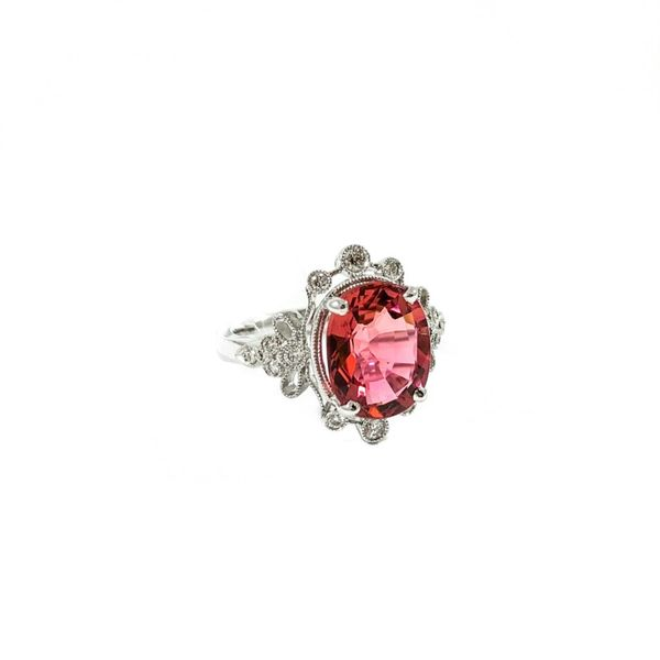S. Kashi and Sons 3.45ct Pink Tourmaline and Diamond Ring - H Color SI1 Clarity Image 2 Lumina Gem Wilmington, NC