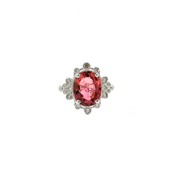 S. Kashi and Sons 3.45ct Pink Tourmaline and Diamond Ring - H Color SI1 Clarity Lumina Gem Wilmington, NC